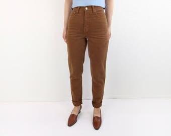VINTAGE Burnt Sienna Denim Jeans High Waist Tapered