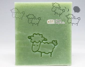 SoapRepublic Little Sheep Acrylic Soap Stamp / Cookie Stamp / Clay Stamp