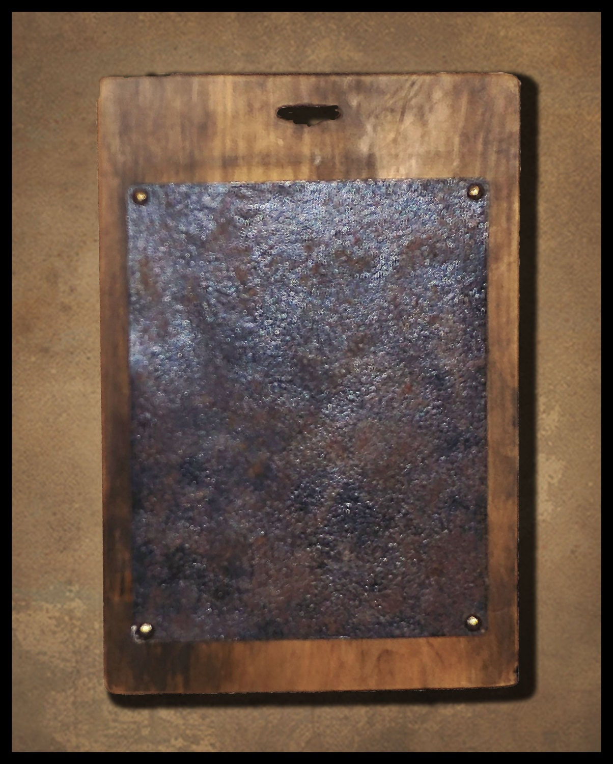 Wood And Faux Rusted Metal Center Finishing Boards For