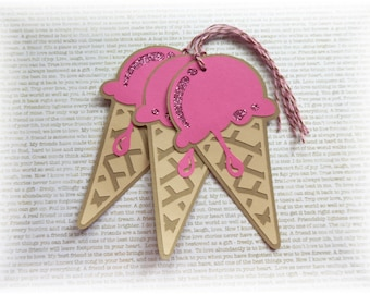 Ice Cream Cone tags - large - Yummy - Tags  (3)