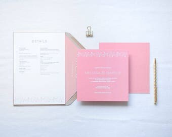 Charlotte - Elegant Florals Square Wedding Invitation | Square Floral Wedding Stationery | Customisable Wedding Invites