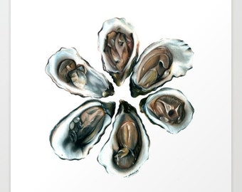 Oysters on the Half Shell Print