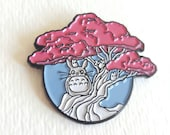 Totoro Spirit Tree enamel pin, limited edition, lapel pin, party supplies, party favors