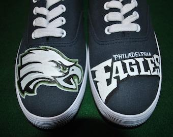 New Custom Hand Painted Philadelphia Eagles shoes----- sold