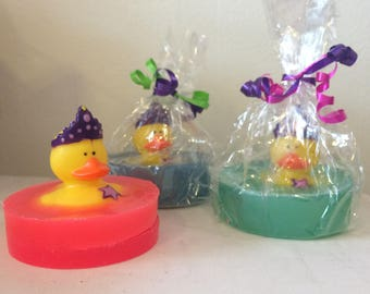 Natural Soap, Princess Rubber Duck, Your Choice of Pink Grapefruit, Lavender, or Lime 4.5 oz. by Green Bubble Gorgeous on etsy