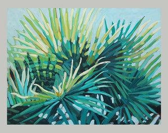 Original Tropical Leaf Prints, Tropical Rain Forest Leaf Art, Tropical Wall Decor, Fern Leaves Art, Beach House Decor, Palm Tree Painting