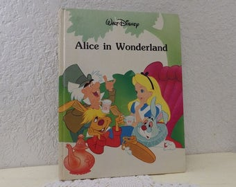 Alice in Wonderland From the Disney Classic Series, Glossy Hardcover Book in Very Good Condition, 1986