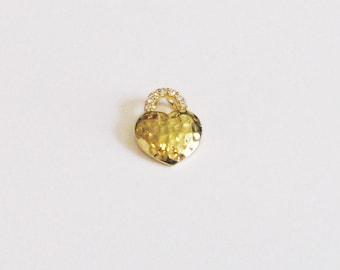 14 karat Gold Heart, Heart Charm, Heart Pendant, Gold Heart Necklace Making