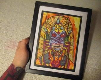 Goldars Revenge Original Glass Framed Drawing