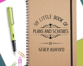 Personalised Gift Notebook|Plans & Schemes Notebook|Christmas Present|Christmas Gift