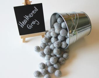Felt Balls- Heathered Grey- 20mm-Pk of 20