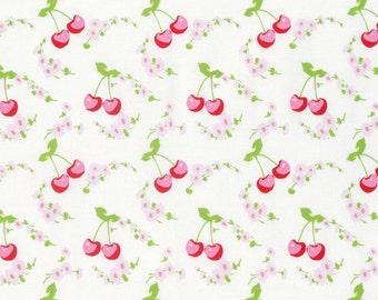 Rambling Rose - White Cherries by Tanya Whelan for Freespirit Fabrics