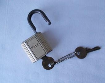 Vintage Yale Padlock with Keys