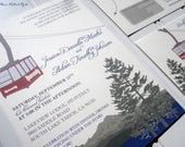 Heavenly Mountain Tram - Lake Tahoe - Ski Wedding Invitations--Special Listing for Teasha