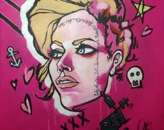 Tattoo Artist 12x12 Premium Giclee Print