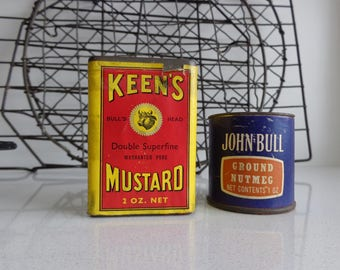 Vintage Tins of Cooking Spices