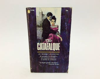 Vintage Gothic Romance Book The Catafalque by Robert Goldston 1958 Paperback