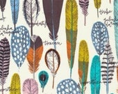 Organic Cotton Fabric, Quilting Weight Fabric, Birds of a Feather from Cloud9, Navy Apparel Fabric, Choose size and quantity for longer cut