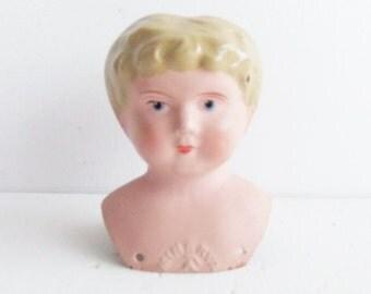Antique Minerva  Tin Doll Head Germany