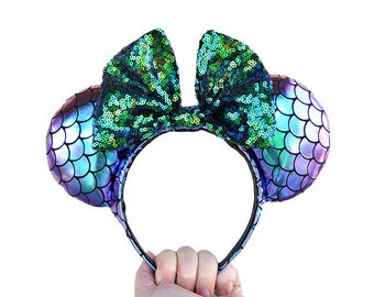 Iridescent Little Mermaid Disney Mickey Mouse Ears Minnie Mouse Ears