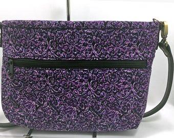 Mothers Day Gift, Purple Cross Body Bag, Corduroy Cross Body Bag, Purple Corduroy Cross Body Bag, Shoulder Bag, Purple Corduroy Shoulder Bag
