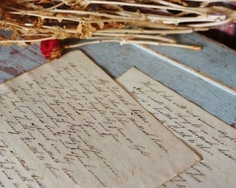 My Scottish Laddie ~ Antique circa 1861 Handwritten Calligraphy Pages
