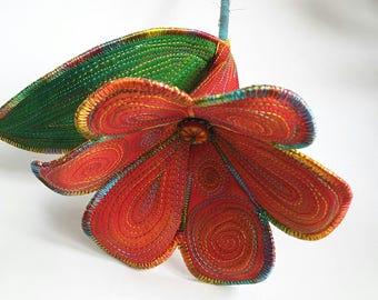 Stitched Silk Flower