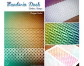 DRAGON SCALES Mandarin Duck Texture Stamp - silicone, polymer, ink, papercrafts, fabric, polymer clay