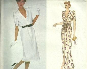 Vogue Paris Original Sewing Pattern 2165, Givenchy Dress Size 10 Bust 32