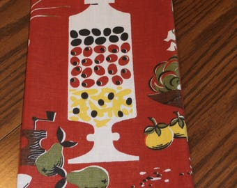 """Vintage 1960s Martex Cotton Kitchen Towel, Rust, Never Used Paper and Cloth Label 19 3/4"""" x 30 1/2"""""""