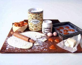 Making Christmas cookies - Preparation board