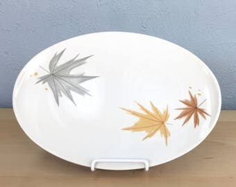 Large Size Informal True China by Iroquois, A Ben Seibel Design Serving Platter Made in USA, Autumnal Thanksgiving Table Decoration, Autumn
