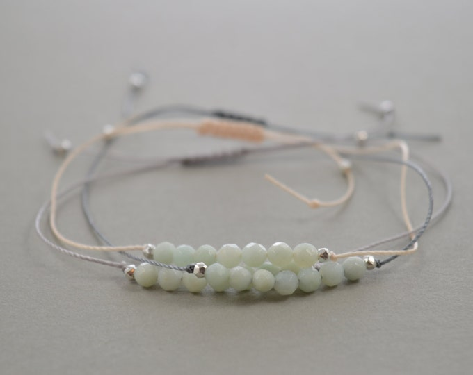 Amazonite Beaded Bracelet, friendship bracelet, wish bracelet, best friend gift, minimalist jewelry, best friend bracelet, beaded bracelet