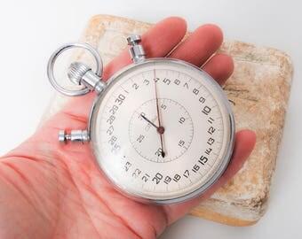 Vintage huge, large, big  sport stopwatch. Chronometer Slava. From Soviet Union