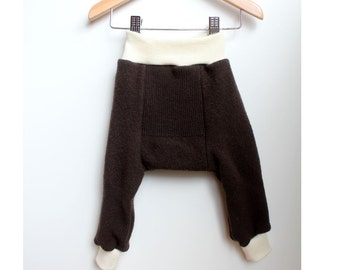 Wool Longies/ wool pants/ diaper cover size Med
