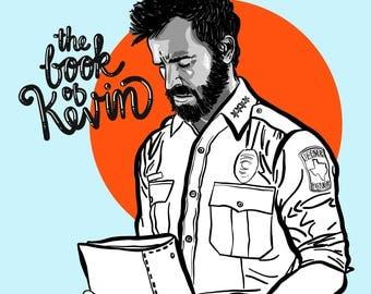 "Kevin Garvey from ""The Leftovers"" - Illustration - Digital Art - 12"" x 12"""