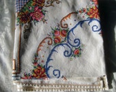 CUSTOM RESERVED LISTING for Helen -Stunning Cross Stitched Hand Made Vintage Tablecloth!