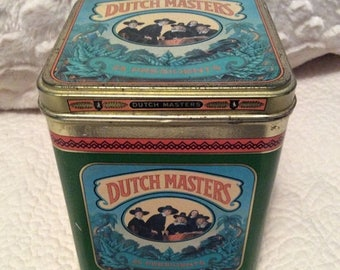 MOTHERS DAY SALE Vintage Dutch Masters Cigar Tobacco Tin Americana Advertising
