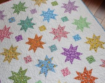 Vintage Stars Baby Quilt