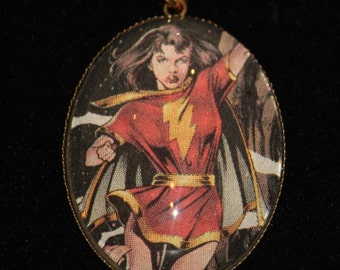Mary Marvel DC Comic Book Pendant Necklace