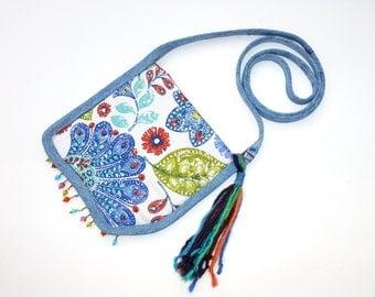 Denim Forever Flat Mini Bag, a Passport Style Bag by Vic Von Pip Studio