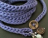Holiday Sale! Lavender crochet boho wrap bracelet, cotton bracelet, cuff bracelet, boho jewelry, coffycrochet, crochet jewelry, fall fash...