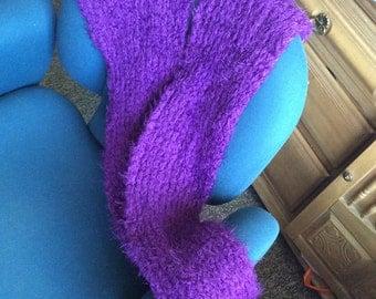 Long soft scarf purple no flaws
