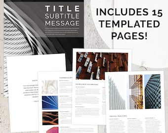 DOWNLOAD INSTANTLY - 15 Page DIY Architectural Executive Summary InDesign (.indd) Template