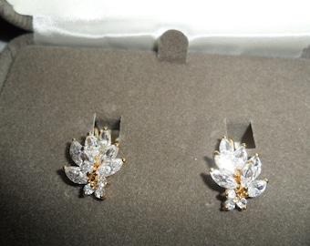 Vintage Nolan Miller Small Swarovski Earrings