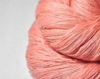 Old plastic flamingo OOAK  -  Merino/Cashmere Fine Lace Yarn