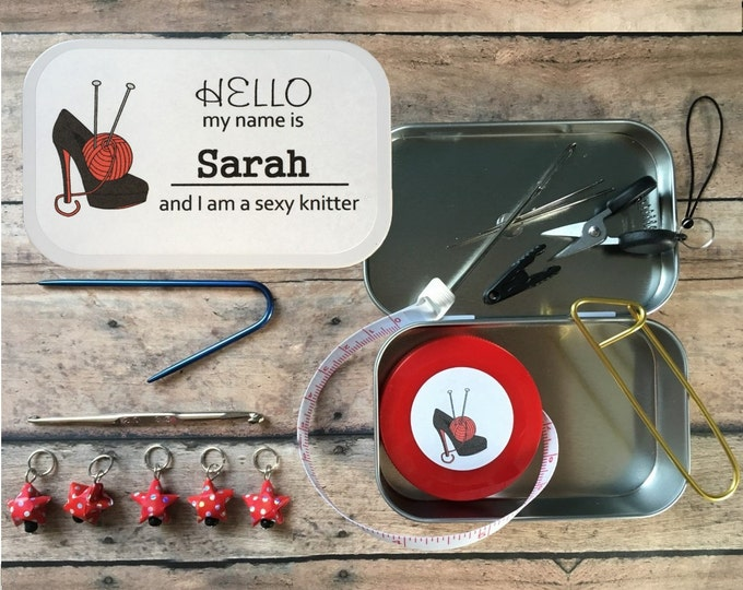 LIMITED EDITION I am a Sexy Knitter: The Knitter's Tool Tin for your Knitting Project Bag
