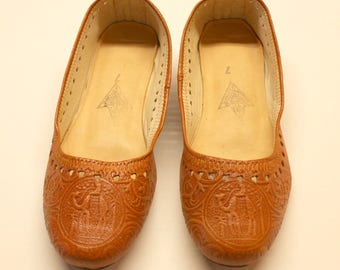 SALE Leather flats, womens leather flats,tan leather flats