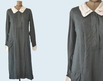 1930s Black Uniform with White Collar size M/L