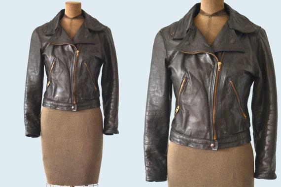 SOLD to Elaine Pierini 1960s Motorcycle Jacket size XS